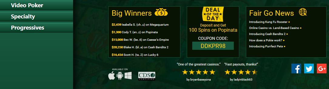 Fair Go Mobile Casino Promotions Terms & Conditions 2